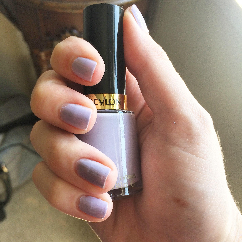 revlon charming lilac pastel purple nail polish